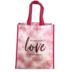 Bags - 🆕❤Do Everything In Love Message Shopper Tote Bag
